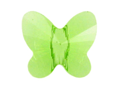 12 Peridot - 8mm Swarovski Faceted Butterfly Beads