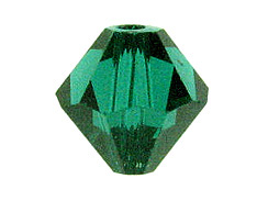 48  Emerald  - 5mm Swarovski Faceted Bicone Beads