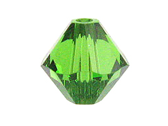 6mm Fern Green - Swarovski 5301/5328 Bicone Beads Factory Pack of 360
