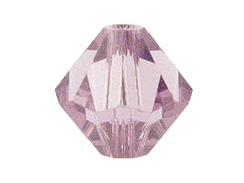 4mm Light Amethyst - Swarovski Bicone Crystal Beads Factory Pack