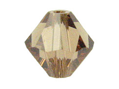 Light Smoked Topaz  5mm - Swarovski Bicone Beads
