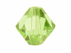 100 Peridot - 4mm Swarovski Faceted Bicone Beads