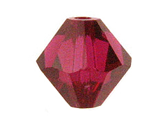 36 Ruby - 6mm Swarovski Faceted Bicone Beads