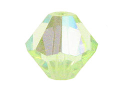 4mm Chrysolite AB - Swarovski Bicone Crystal Beads Factory Pack