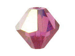 100 3mm Fuchsia AB - Swarovski Faceted Bicone Beads