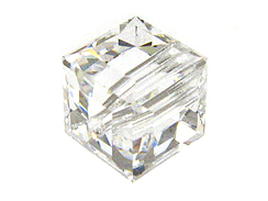 Crystal - 12mm Swarovski Cube Beads