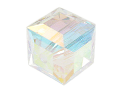 Crystal AB Swarovski 5601 8mm Cube Beads Factory Pack