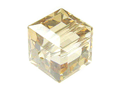 Crystal Golden Shadow Swarovski 5601 8mm Cube Beads Factory Pack