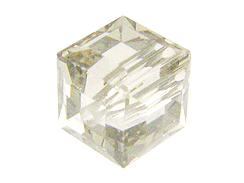12 Crystal Silver Shade - 6mm Swarovski Faceted Cube Beads