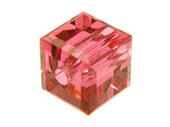24 Indian Pink - 4mm Swarovski Faceted Cube Beads