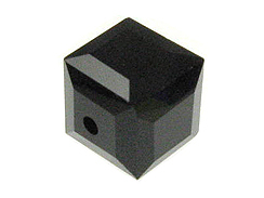 Jet Swarovski 5601 4mm Cube Beads Factory Pack