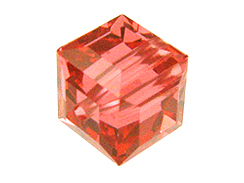 12 Padparadscha - 6mm Swarovski Faceted Cube Beads