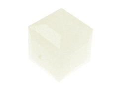 White Alabaster Swarovski 5601 6mm Cube Beads Factory Pack