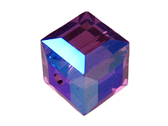 Amethyst AB Swarovski 5601 8mm Cube Beads Factory Pack