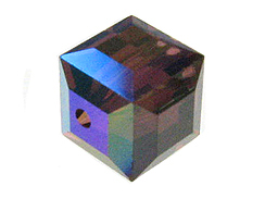 Burgundy AB - 6mm Swarovski Cube Beads