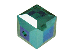 Emerald AB Swarovski 5601 8mm Cube Beads Factory Pack