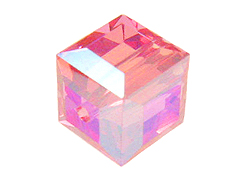 6mm Rose AB Swarovski Cubes Factory Pack