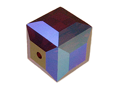 Siam AB Swarovski 5601 6mm Cube Beads Factory Pack
