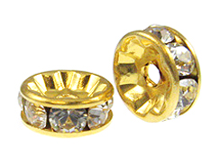 "Crystal: 8mm Gold Plated Crystallizedâ""¢ Rondelles"