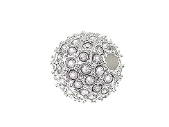 14mm Beadelle Silver-plated Crystal Round Resort Pavé Bead