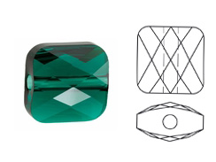Emerald - 6mm Swarovski Mini Square Bead