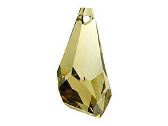 Crystal Golden Shadow - 17mm Swarovski  Polygon Drops