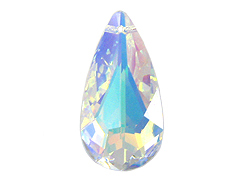 Crystal AB- 24x12mm Swarovski Almond Shape Pendant