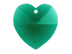 Emerald - 10.3x10mm Swarovski  Heart Shape Pendant Factory Pack