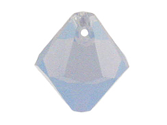 24 Swarovski 6301 6mm Faceted Bicone Pendant Air Blue Opal