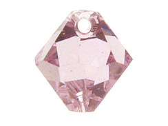 18 Swarovski 6301 8mm Faceted Bicone Pendant Light Amethyst