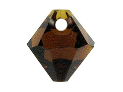 18 Swarovski 6301 8mm Faceted Bicone Pendant Mocca
