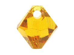 Topaz - 8mm Swarovski 6301 Top Drilled Bicones Factory Pack of 288