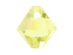 24 Swarovski 6301 6mm Faceted Bicone Pendant Jonquil AB