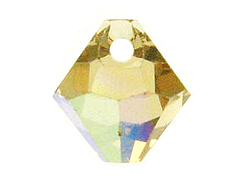 Light Colorado Topaz AB - 6mm Swarovski 6301 Top Drilled Bicones Factory Pack of 360