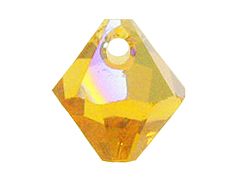 Topaz AB - 6mm Swarovski 6301 Top Drilled Bicones Factory Pack of 360