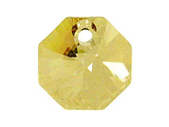 Crystal Golden Shadow- 14mm Swarovski  Octagon Pendant Factory Pack