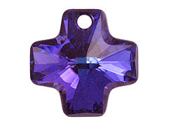 Crystal Heliotrope - 20mm Swarovski  Cross Pendant
