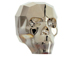 Crystal Metallic Light Gold 2X - 13mm Swarovski 5750 3-D Skull Bead