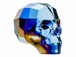 Crystal Metallic Blue 2X - 13mm Swarovski 5750 3-D Skull Bead