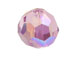24 Light Amethyst AB - 6mm Swarovski Faceted Round Beads