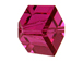 8mm Fuchsia Offset Swarovski 5600 Factory Pack