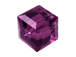 24 Amethyst - 4mm Swarovski Faceted Cube Beads