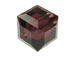 24 Burgundy - 4mm Swarovski Faceted Cube Beads