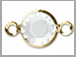Swarovski Crystal Gold Plated Birthstone Channel Links - Crystal