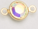 Swarovski Crystal Gold Plated Birthstone Channel Links - Crystal AB