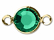 Swarovski Crystal Gold Plated Birthstone Channel Links - Emerald