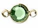 Swarovski Crystal Gold Plated Birthstone Channel Links - Peridot