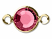 Swarovski Crystal Gold Plated Birthstone Channel Links - Rose