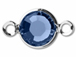 Swarovski Crystal Silver Plated Birthstone Channel Links - Sapphire 250 pcs