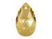 Crystal Golden Shadow - 22mm Swarovski  Pear Shape Drop Factory Pack